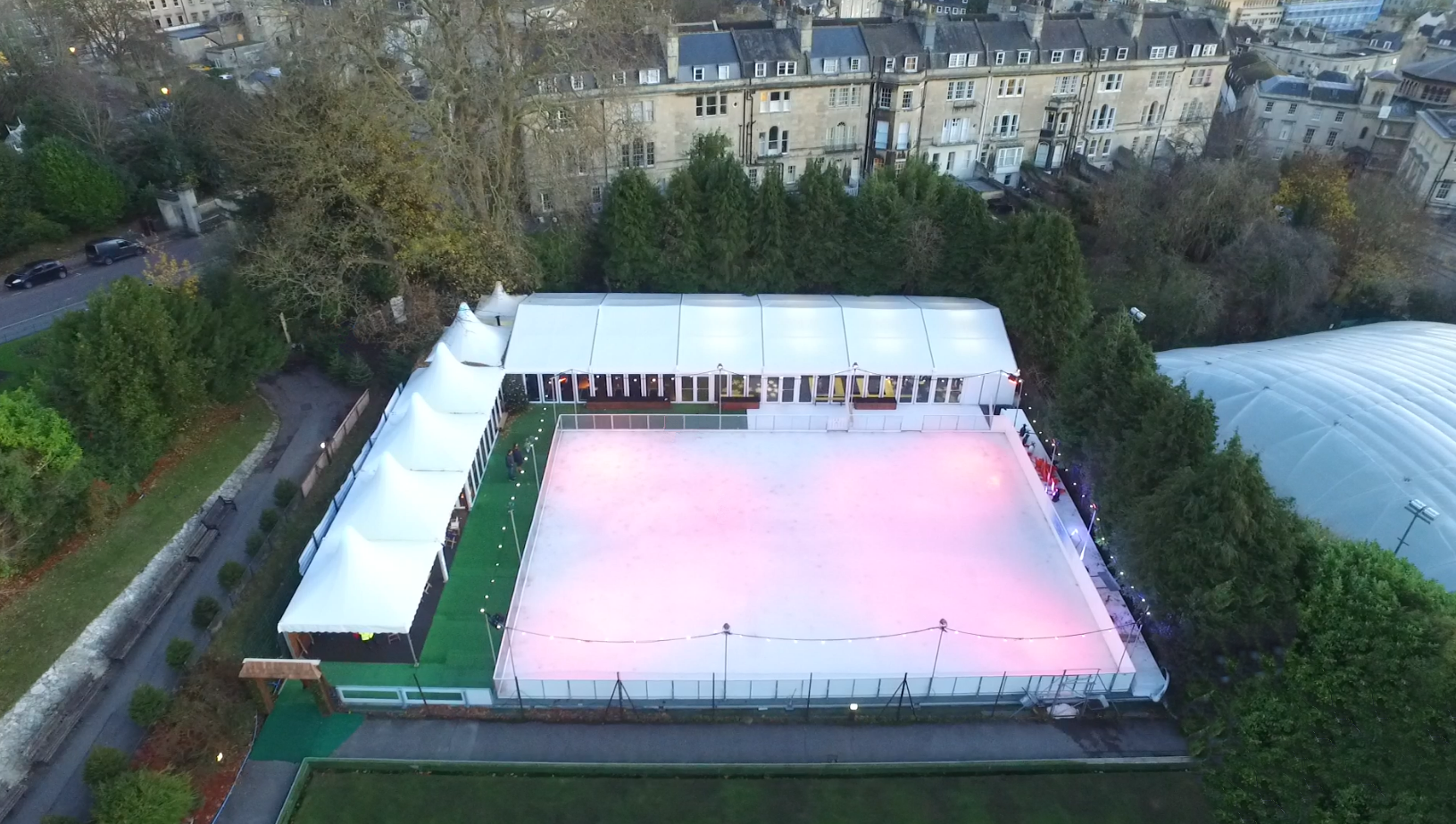 Bath on Ice Drone View