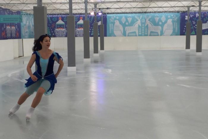 Beckworth Emporium Ice Rink Girl Skating